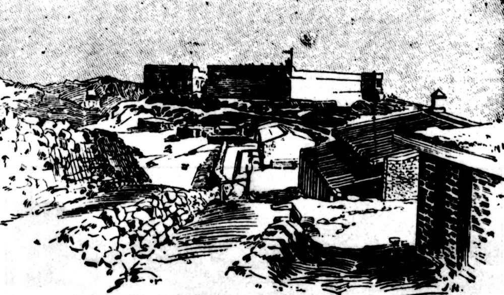 Fort Cavagnari (also known as Fort Gulistan) on the North West Frontier. This artist's impression has been taken from article that appeared in The Queenslander on 13 November 1897. The Queenslander was the weekly summary and literary edition of the 'Brisbane Courier' (now The Courier-Mail).