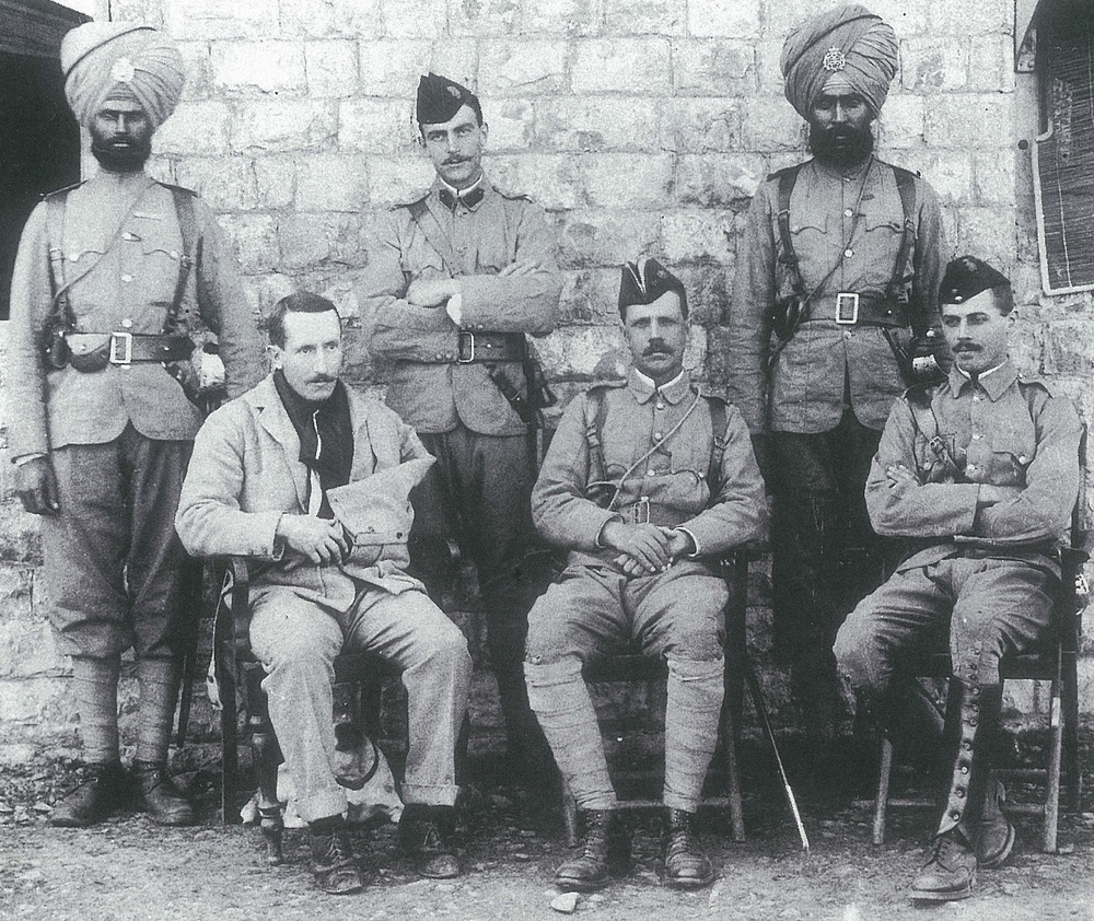 Defenders of Fort Gulistan with two soldiers of the 36th Sikhs.