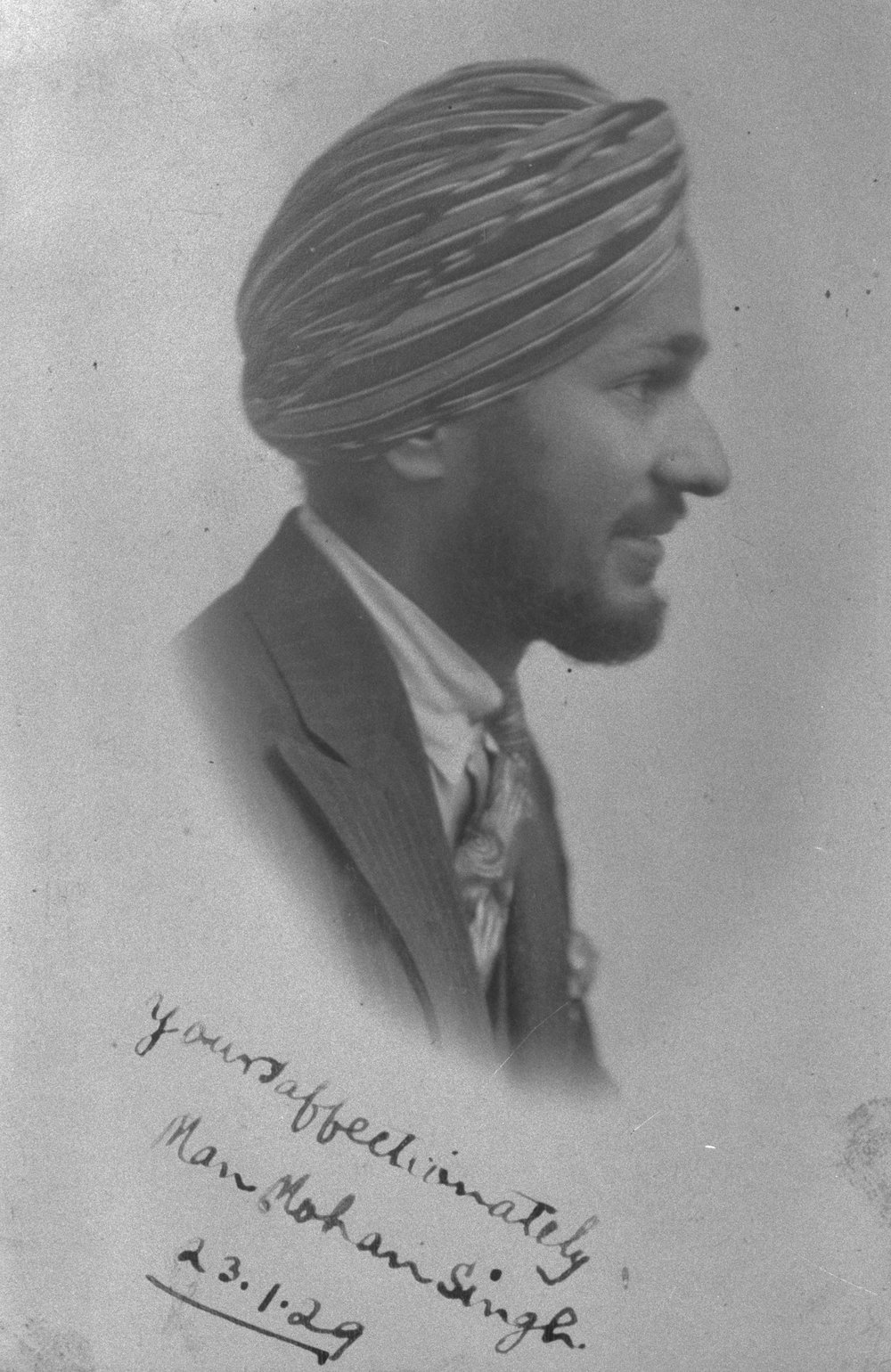 Photograph provided by Chan S Chowdhry - Nephew of Manmohan Singh. Photograph taken from a family album that survived the looting of Rawalpindi during the partition of  Punjab in 1947.