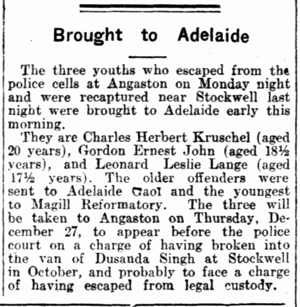 "Article taken from the Wednesday 19 December 1928 edition of ""The News"" a newspaper in Adelaide, South Australia. To see original source please click on link below:  http://nla.gov.au/nla.news-page11075416"