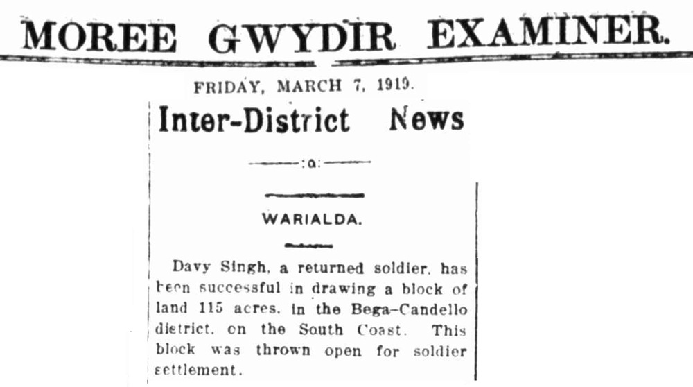 "Article taken from the Friday 7 March 1919 edition of ""Moree Gwydir Examiner"" a newspaper in New South Wales. To see original source please click on link below:  http://nla.gov.au/nla.news-article115773901"