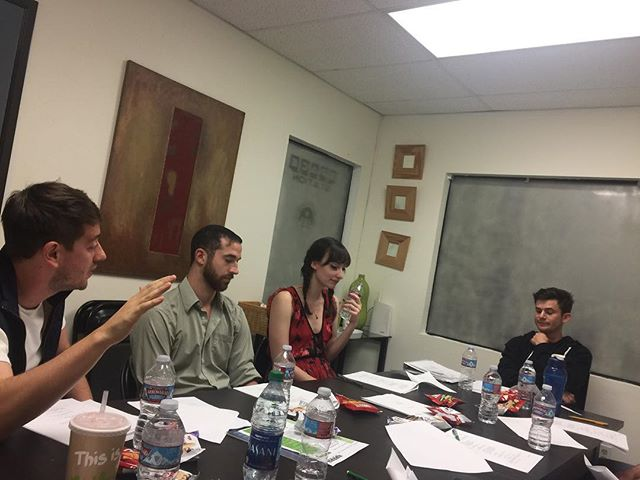 Super Stoked to be working with this cast!! Shooting in a few day!! #gueststar #tableread #guestchef photo: @_sailorgoon_