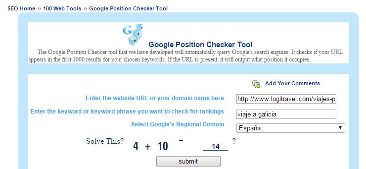 posicionamiento en google rank checker