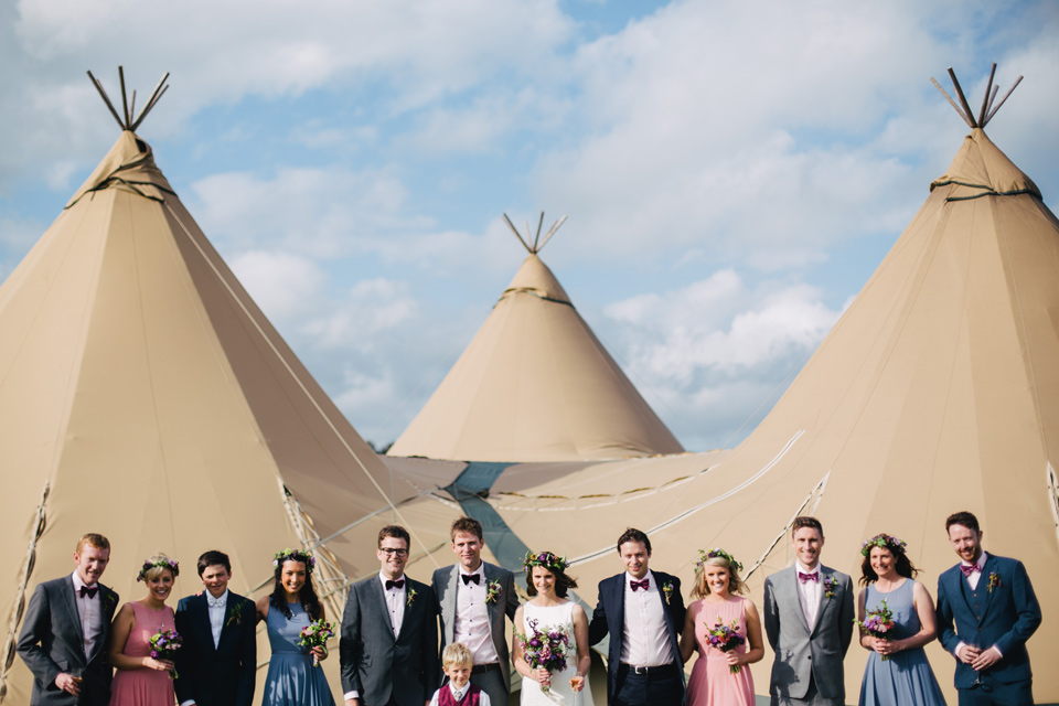Helen & Andrew - Lake District Festival Tipi Wedding - www.catlaneweddings.com