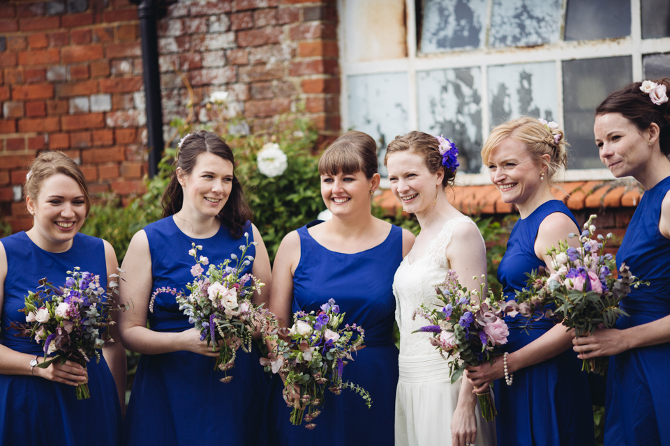Jenny & Dan - Colourful Humanist Barn Wedding at Barford Park - www.catlaneweddings.com