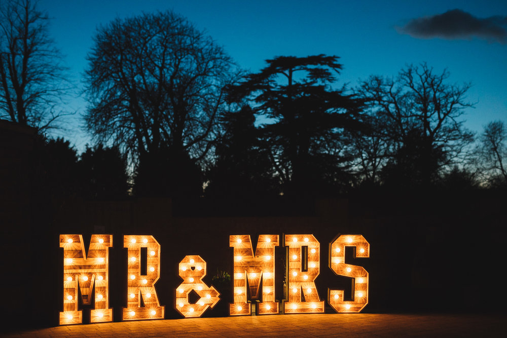 Letter hire by  Olive Events