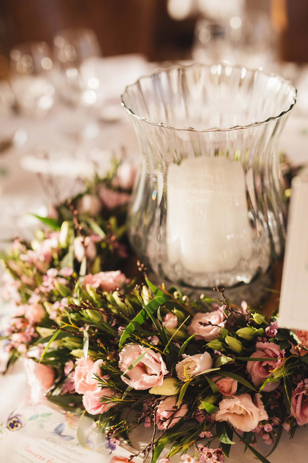 Centrepiece by  Flowers by Suzanne
