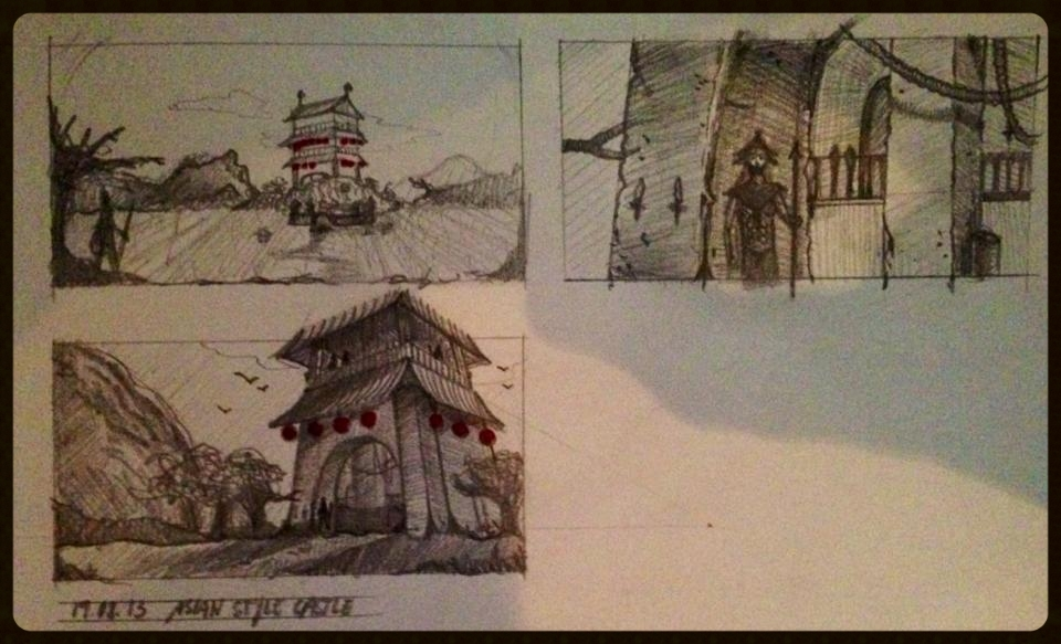 Asian style castle designs