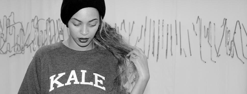 Beyonce sporting the Kale sweatshirt.