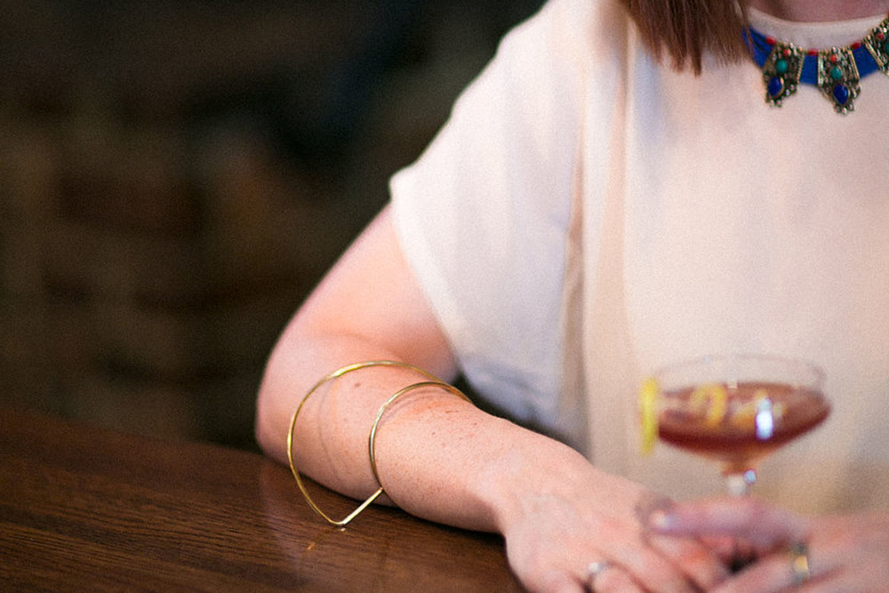 Necklace by  Karen London , Cuff by  Aoko Su