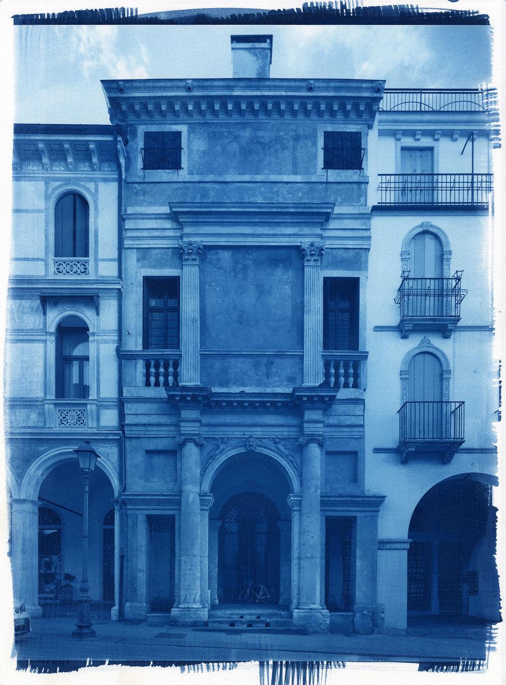 "Casa Cogollo  (Cyanotype Print, 11 x 14"")"