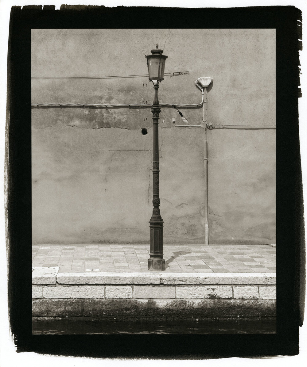 "Lamp Post, Venice  (Platinum/Palladium Print, 8 x 10"")"