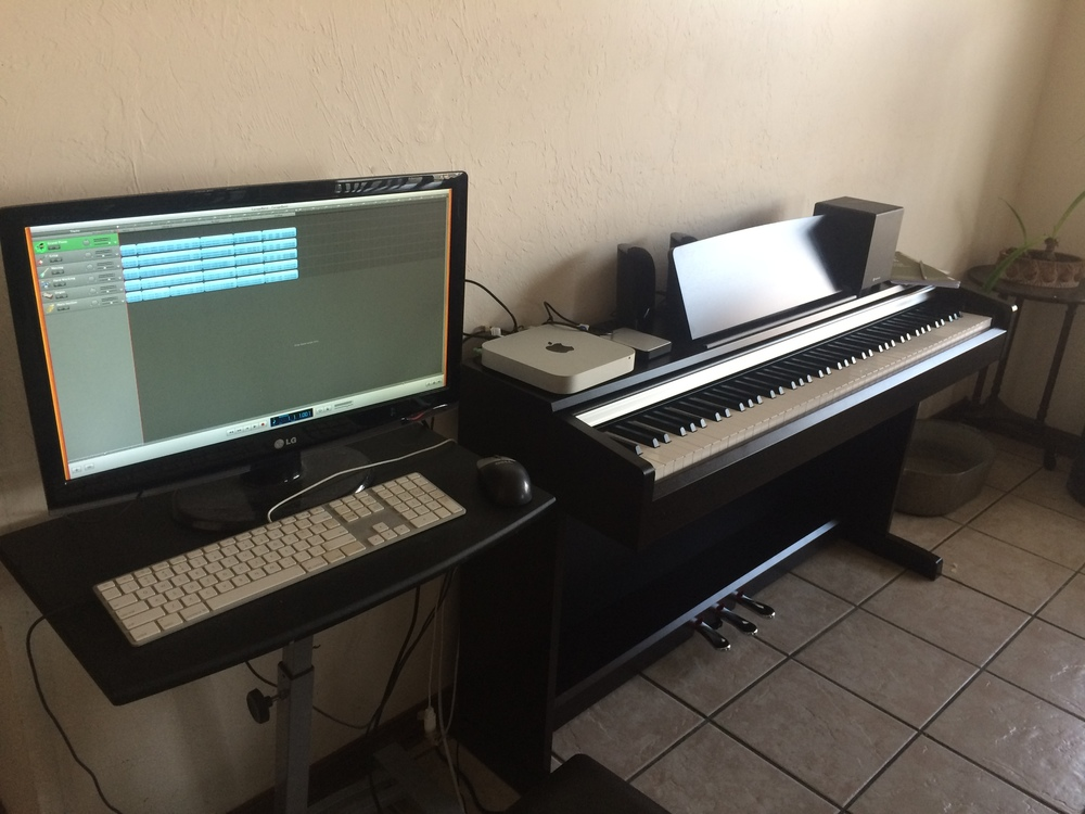 Hook up piano to garageband