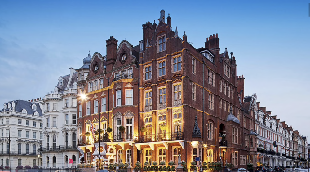 The Milestone Hotel in London is located opposite Kensington Palace and Gardens