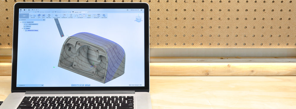 Fusion 360   Each Pocket NC includes a one year trial of  Autodesk Fusion 360 Ultimate.  Powerful CAD/CAM software capable of  creating full 5 axis toolpaths.   Learn More