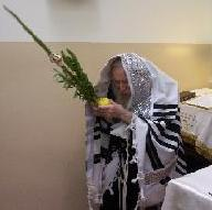 Waving the lulav and etrog