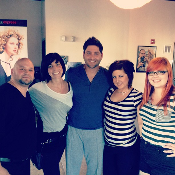 @Yankees catcher @Fran_Cervelli stopped by for a #Mitch grooming session today! @PaulMitchellus