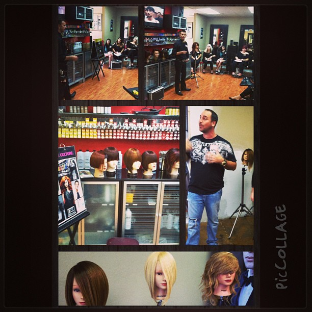 Great @paulmitchellus class today #training for #success!