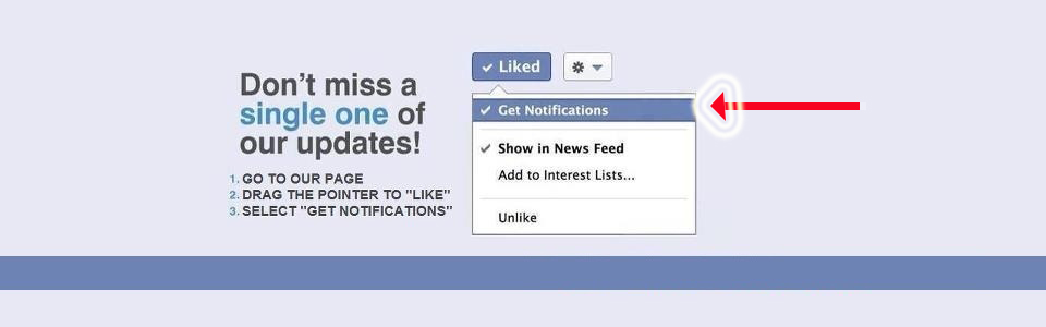 Not getting our Facebook updates??? Try this!