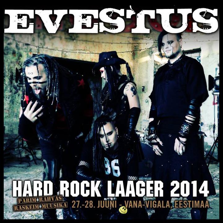 Evestus confirmed for Hard Rock Laager Festival 2014