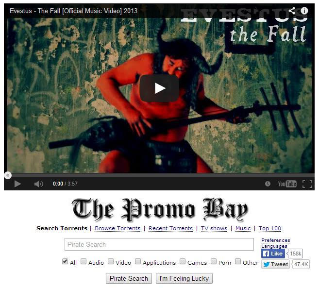The Fall music video featured by The Pirate Bay!
