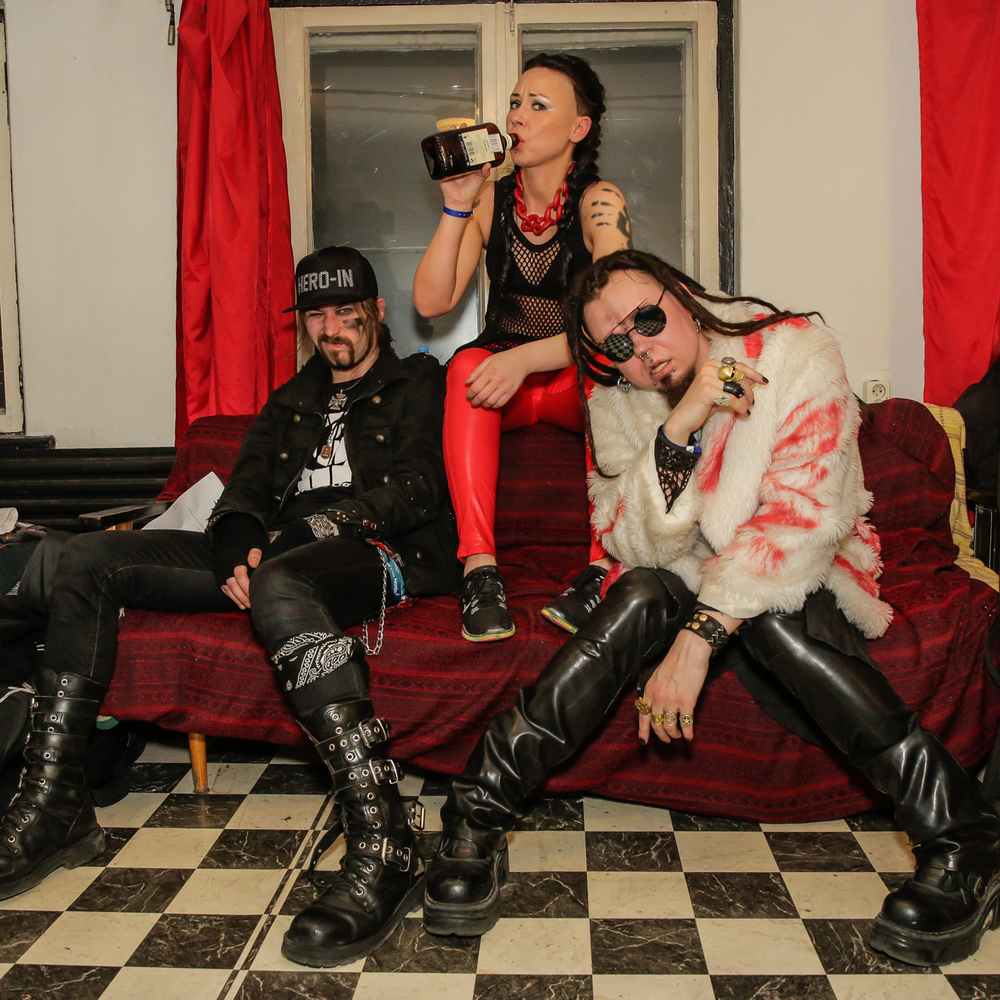 Evestus Backstage at TMW 2016 after show