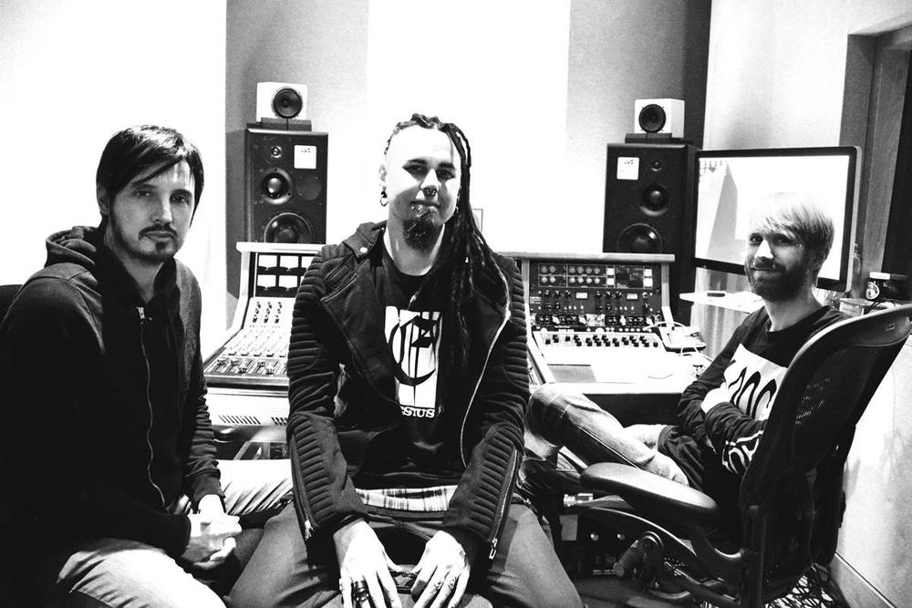 At Soho Studios, London, with Ade Fenton and Nathan Boddy