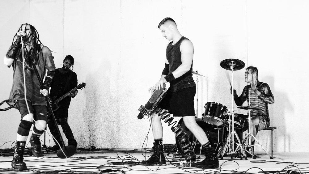 Evestus 2019 industrial rock band promo LIVE