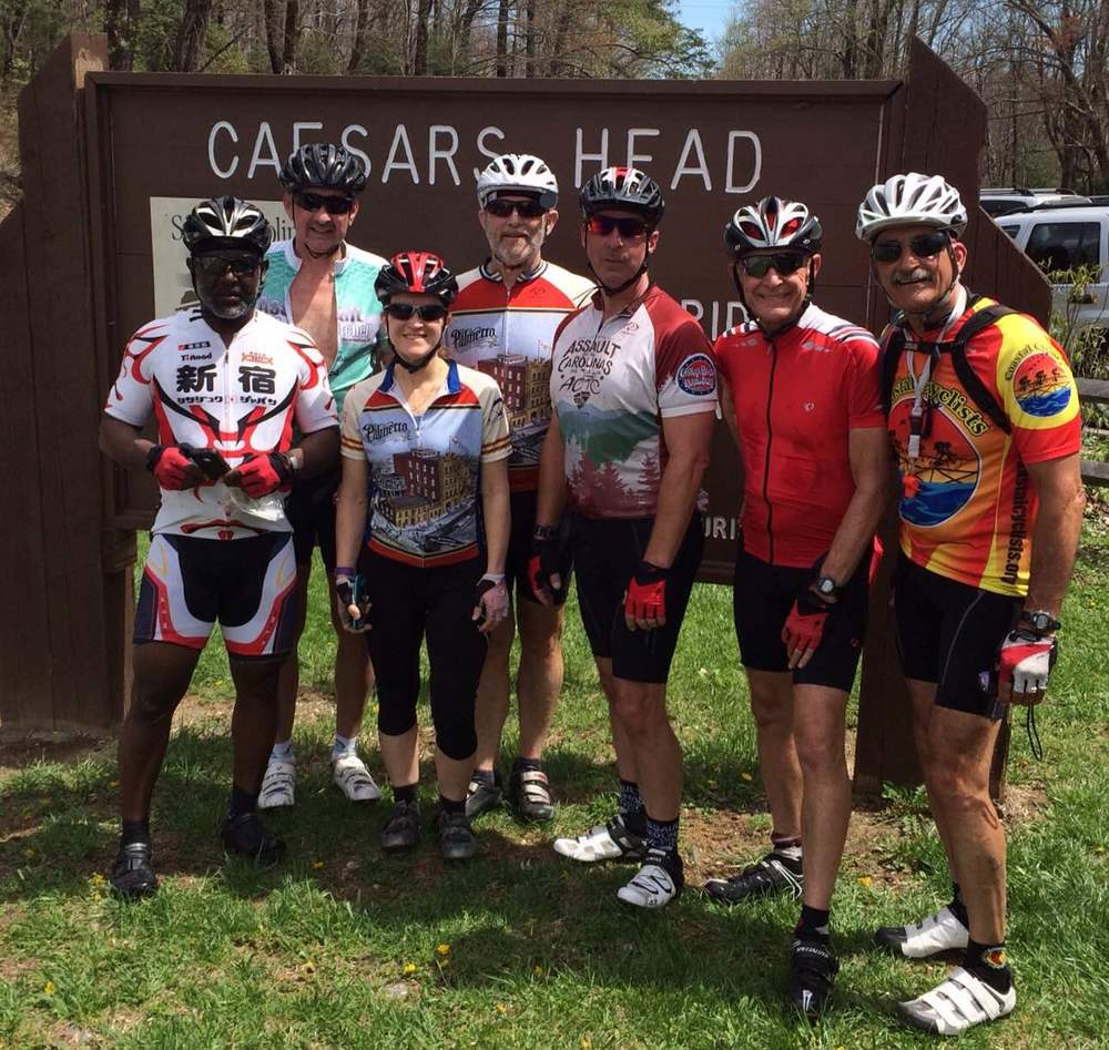 On top of Caesar's Head - 2015 Assault on the Carolinas