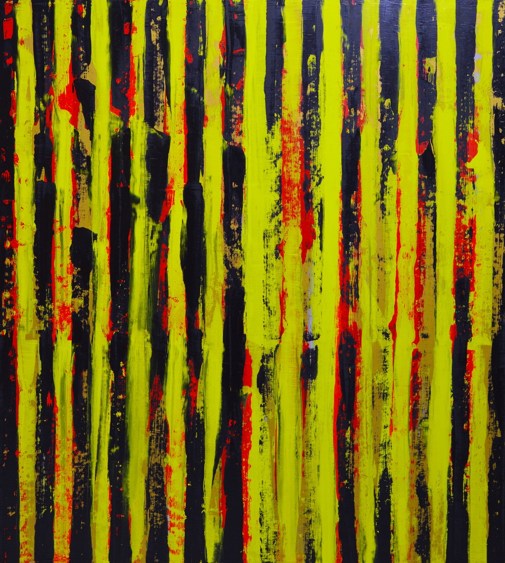 "Interference (with appearance of Au) v.2  oil on canvas 2015 60"" x 54"""