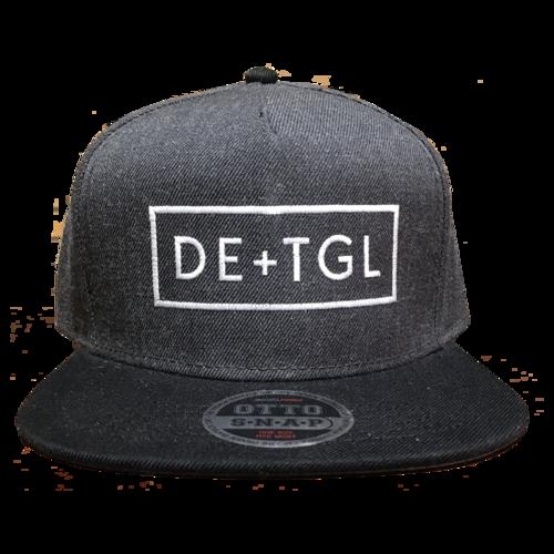 e7469f322d2 DE+TGL Logo Snapback (Black Heather Black) — Daniel Ellsworth   The Great  Lakes