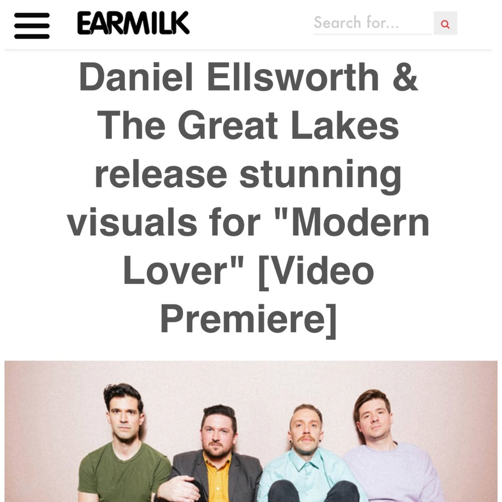 "Earmilk Premieres ""Modern Lover"" Music Video   The music video for ""Modern Lover"" premiered exclusively over on  Earmilk . Of the video they said: ""Modern Lover is filled with rich imagery that evokes what it means to love in 2018.""  Watch the video and read the whole article here ."