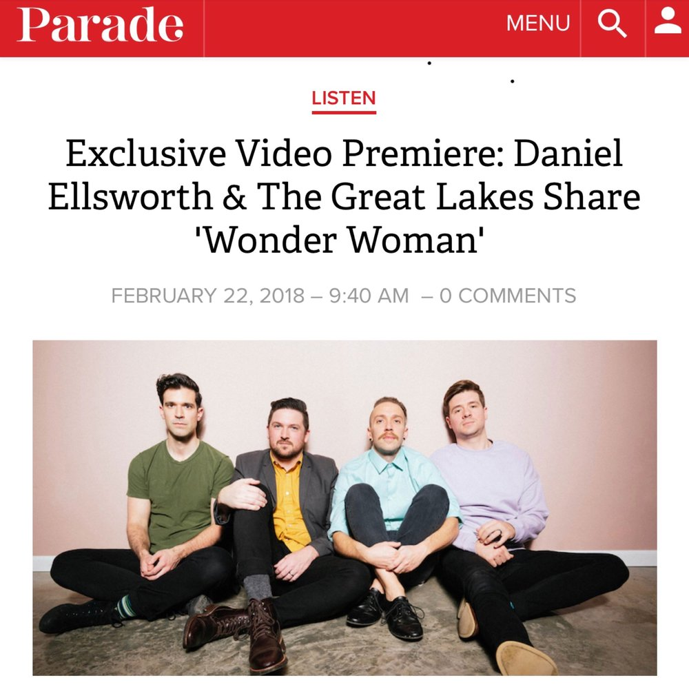 "Parade Magazine Premieres ""Wonder Woman"" Music Video   The music video for ""Wonder Woman"" is premiering exclusively over on  Parade Magazine . ""The song itself celebrates the strength and resilience of women through its permeating groove and catchy melodic hooks.""  Watch the video and read the whole article here ."