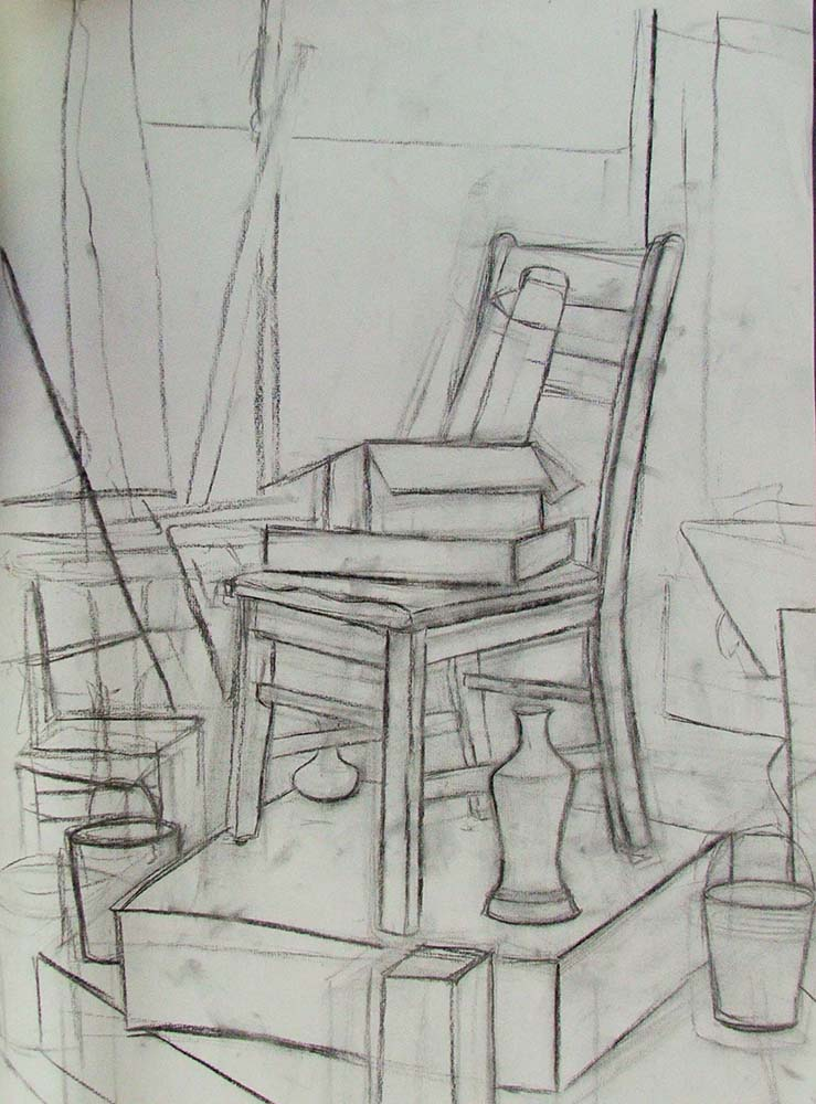 Basic Unit, Perspective, Charcoal, Introduction to Drawing