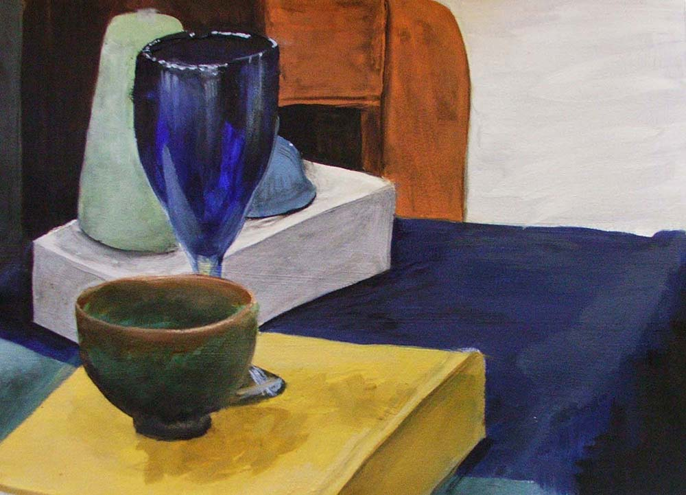 Local Color Still Life, Oil on Canvas, Introduction to Painting
