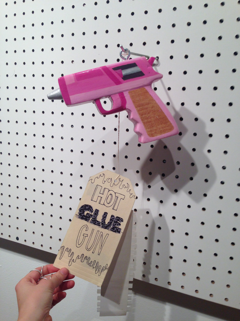Student work: hot glue gun