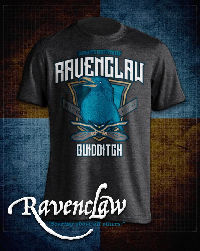 Ravenclaw  Quidditch T-Shirt in Heathered Dark Grey