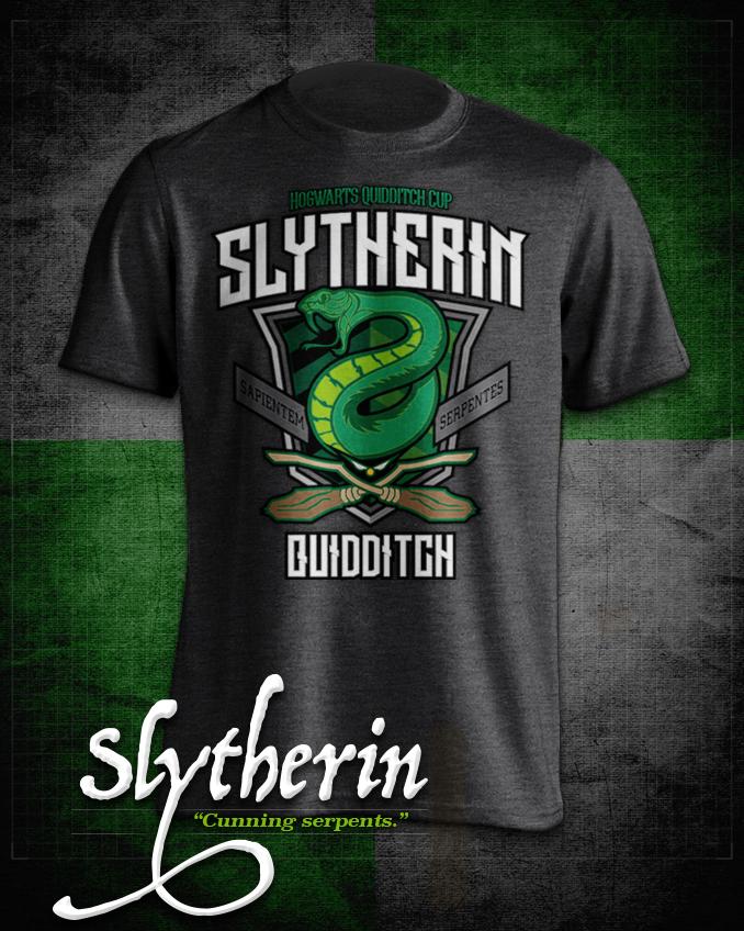 Slytherin  Quidditch T-Shirt in Heathered Dark Grey