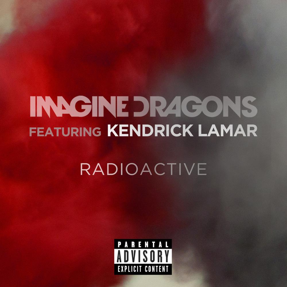 """Portada oficial de la nueva versión de """"Radioactive"""" de Imagine Dragons con Kendrick Lamar"""