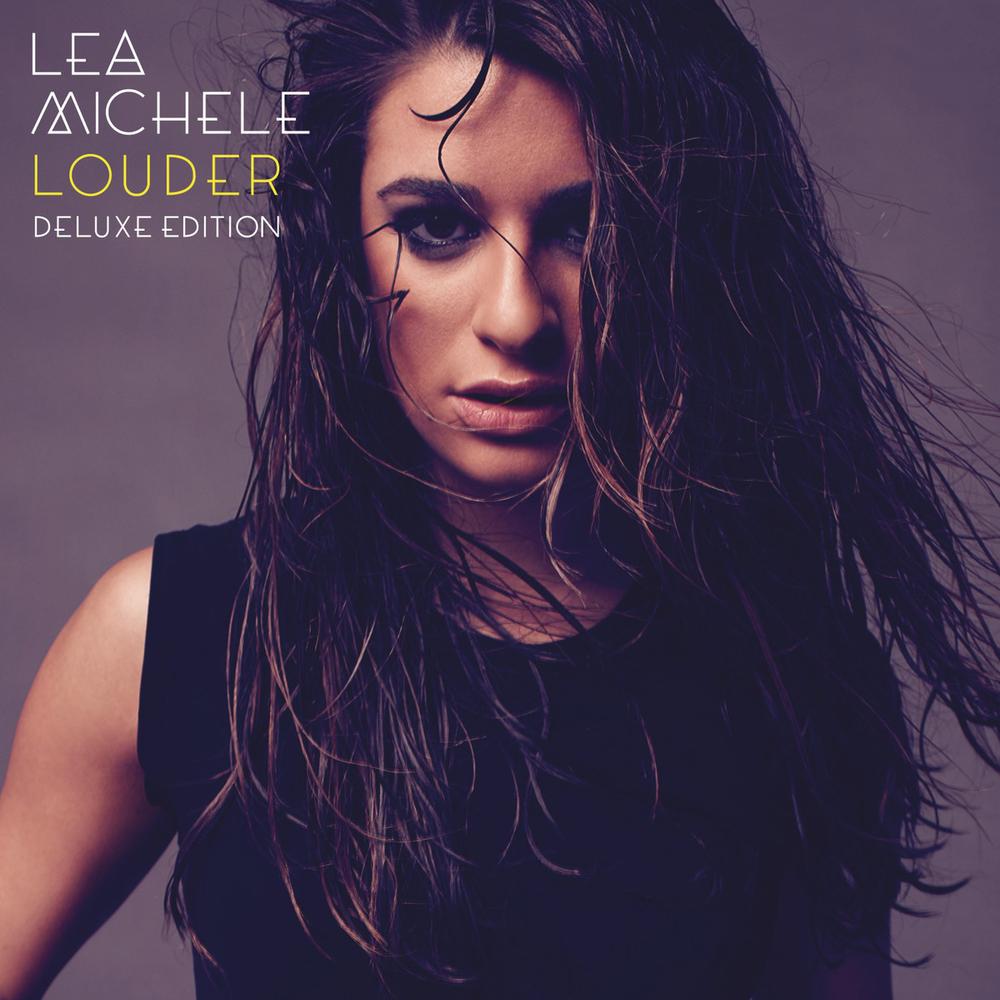 """Portada oficial de la edición deluxe del álbum de Lea Michele """"Louder"""""""