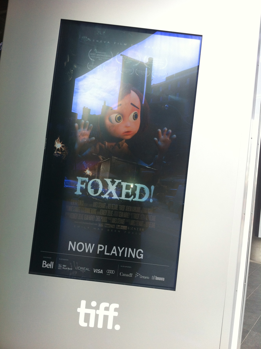Foxed! At the TIFFBell Lightbox