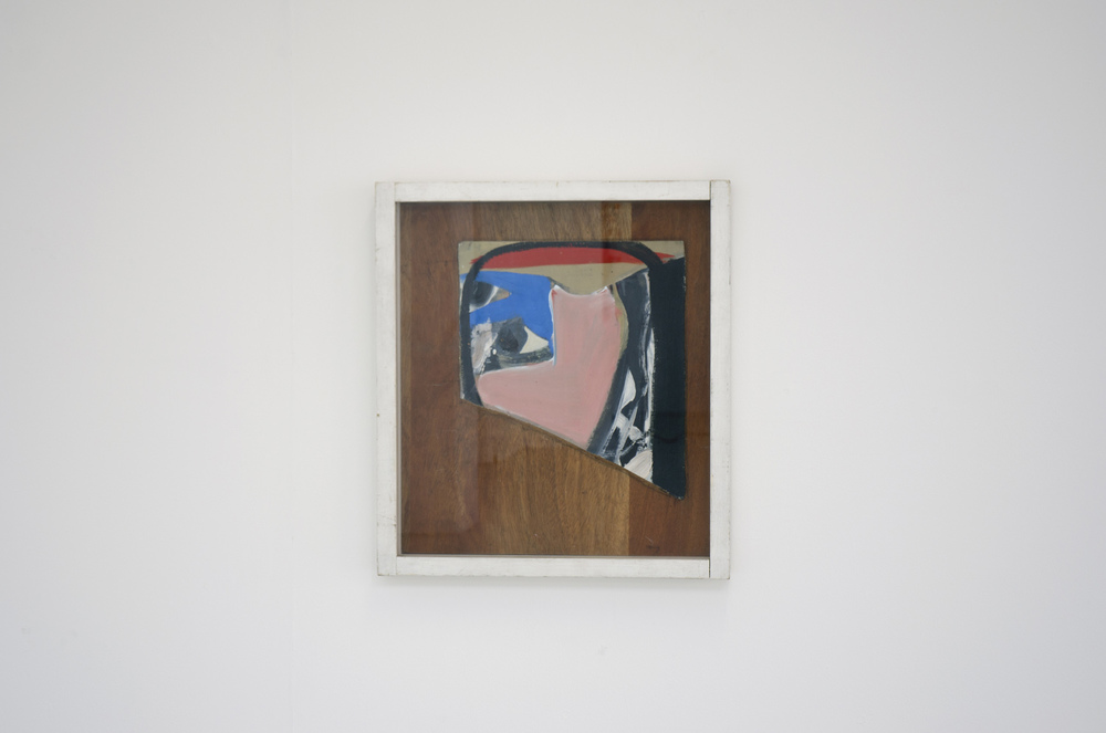 Peter Lanyon,  Portrait,    1962, oil & cardboard on masonite, 50 x 44.5 cm, Gimpel Fils, London