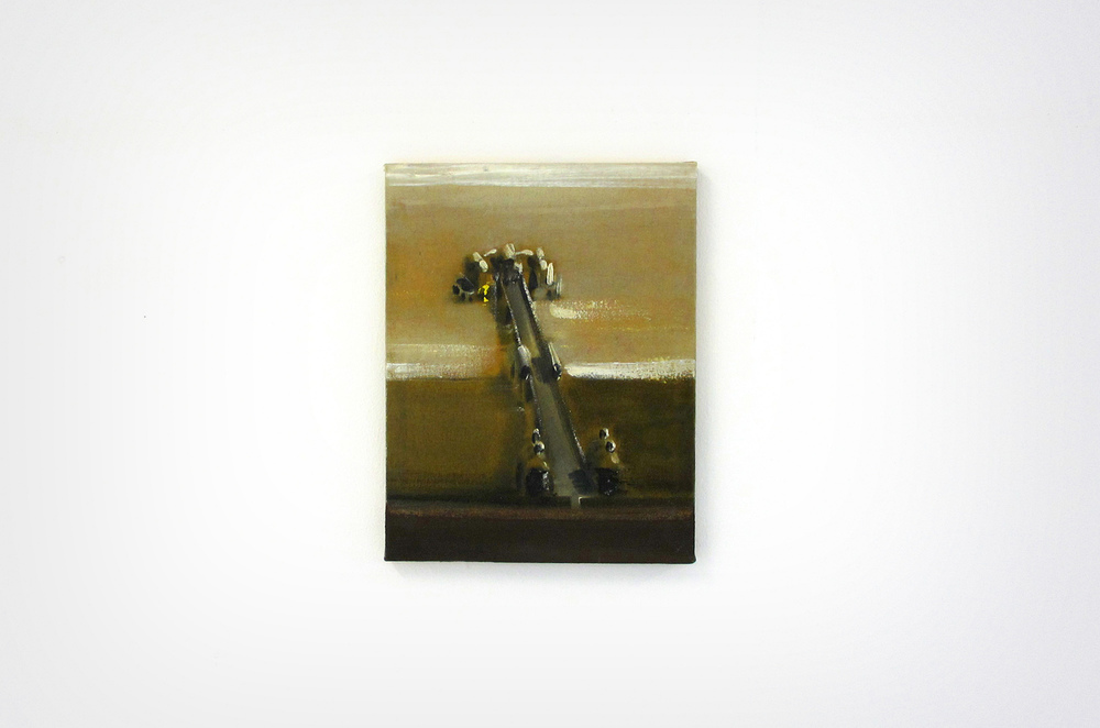 Merlin James,  Pier,    2003, acrylic on canvas, 38 x 29 cm, The artist and Kerlin Gallery, Dublin