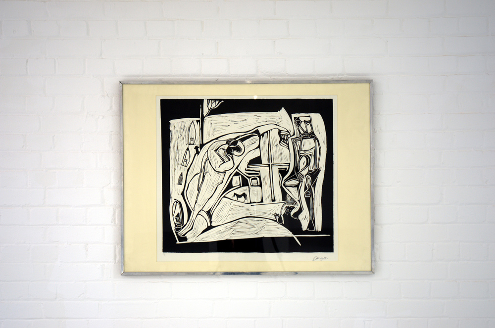 Peter Lanyon,  The Returned Seaman,    1949, linocut, 68 x 74 cm, Gimpel Fils, London