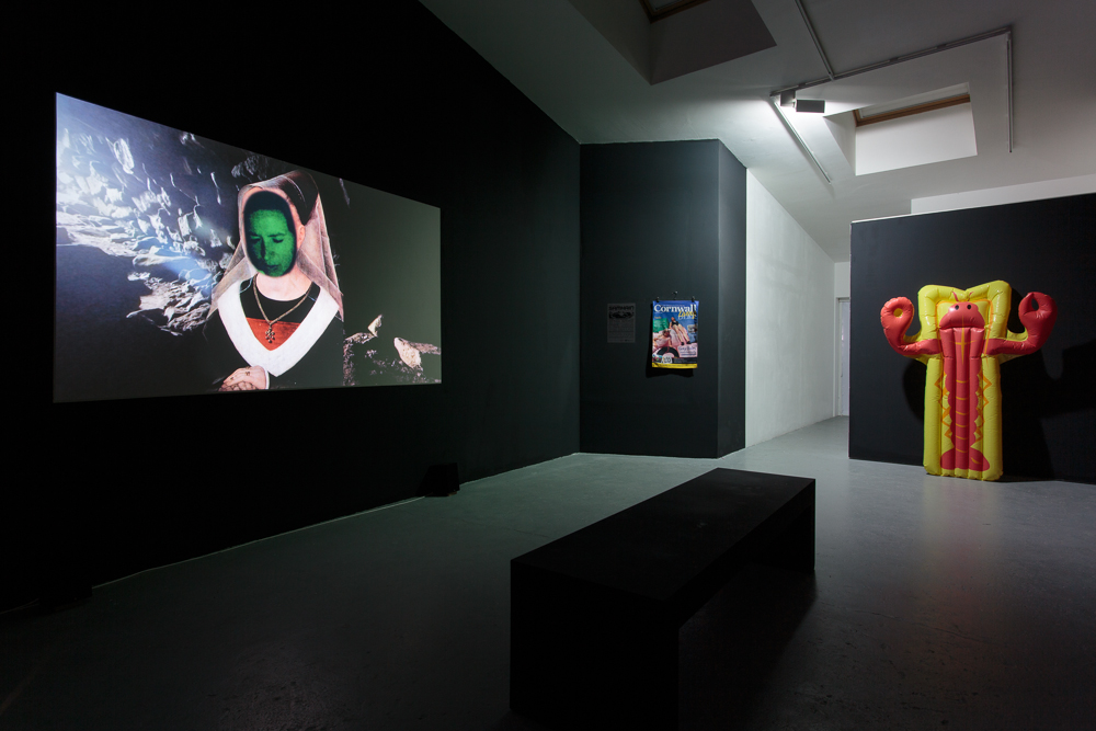 Installation view: BLISS,  Regression,  Kingsgate Project Space, video, 26 min