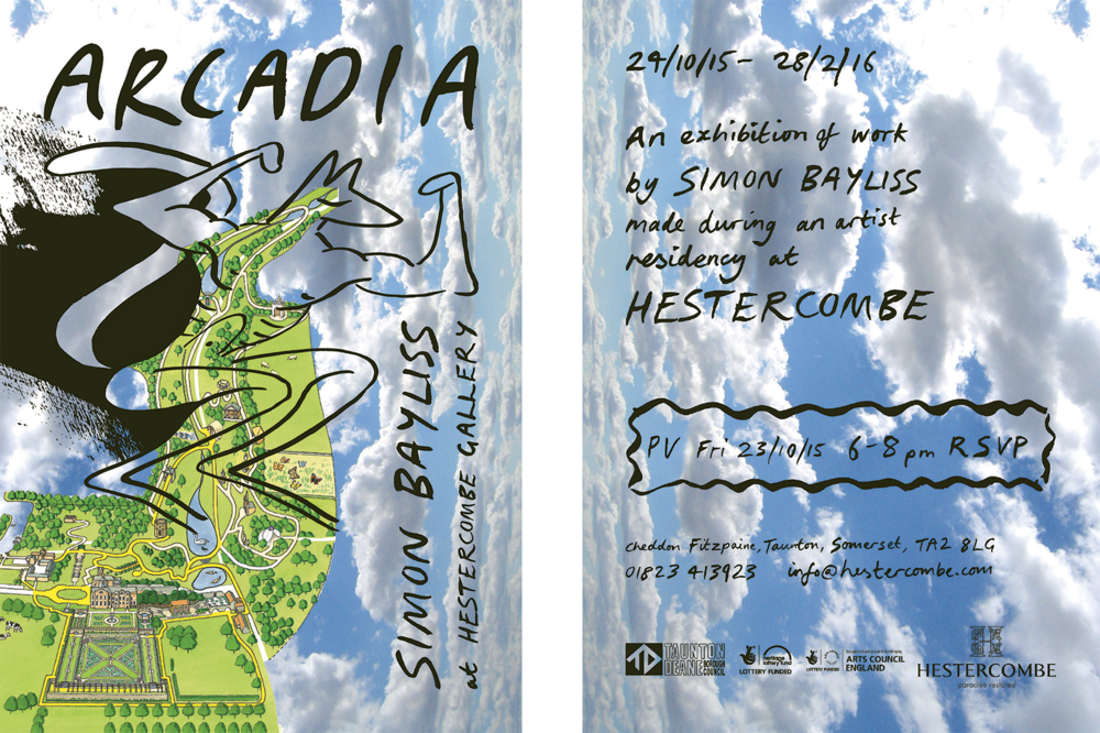 Exhibition flyer design (front and back), 2015, A5