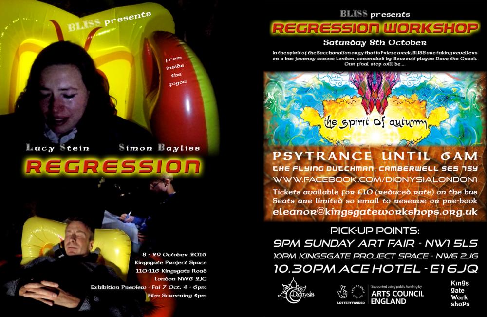 BLISS,  Regression / Regression Workshop  poster design