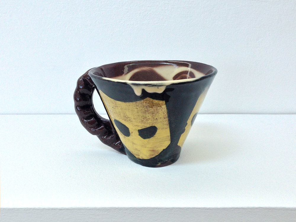 Pasty-handle mug (Grindr) , 2017, slipware, height 9cm