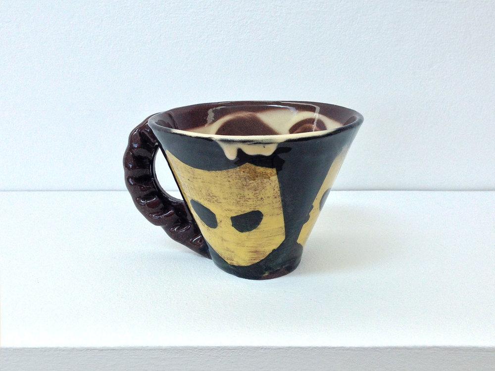 Pasty-handle mug (Grindr) , 2017, slipware, height 9cm