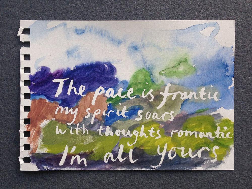 En plein air painting (St Ives), 2016, watercolour on paper,15 x 21cm